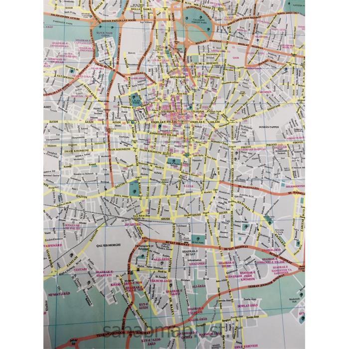 نقشه توریستی شهر تهران به زبان انگلیسی
