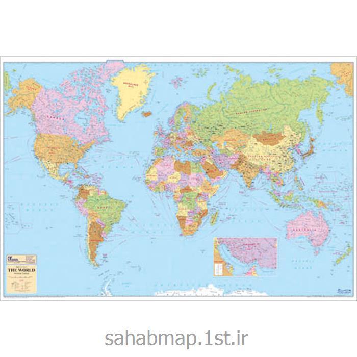 عکس نقشهنقشه جهان نمای سیاسی 2 متری