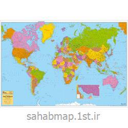 نقشه جهان نمای سیاسی 2 متری