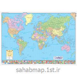 نقشه جهان نمای سیاسی 1 متری