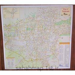 عکس نقشهنقشه تهران به زبان انگلیسی 1 متری