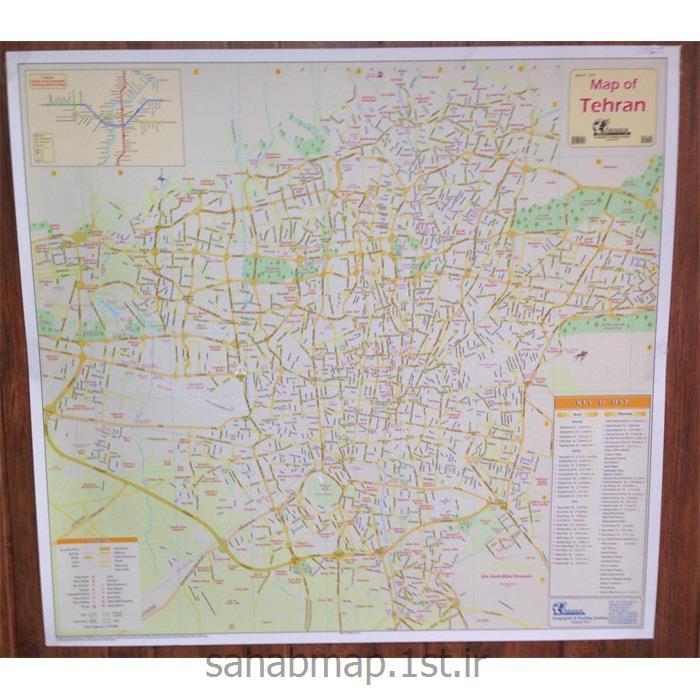 نقشه تهران به زبان انگلیسی 1 متری