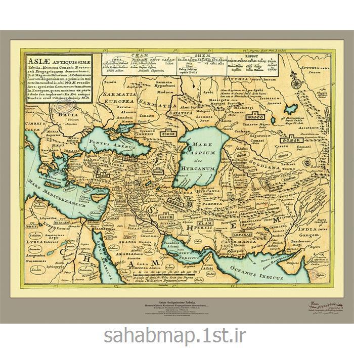 عکس نقشهنقشه ایران از آسیای باستان ۱۷۵۳میلادی