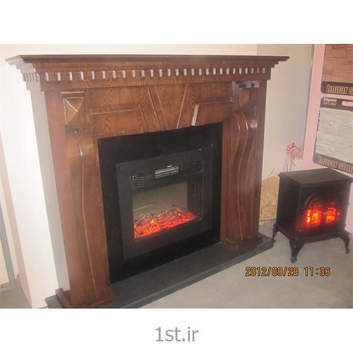 شومینه برقی فریم چوبی 0035