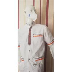 عکس لباس فرم رستورانلباس آشپزخانه مدل سفید نواردار