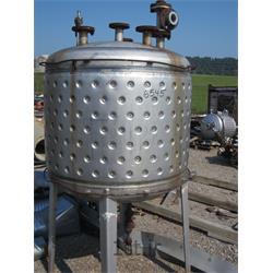عکس ماشین آلات تولید لبنیاتپروسس تانک یا مخزن سه جداره ( دیگ پخت استیل )Steel processing tank