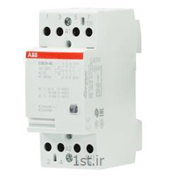 عکس کنتاکتور برق ( کلید خودکار قطع و وصل )کنتاکتور بیصدا 24 آمپر 4 پل مدل ABB ESB24.40-230VAC