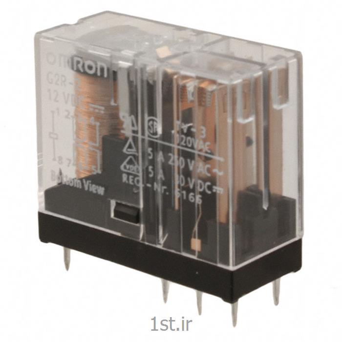 رله امرن (OMRON) دو کنتاکت با LED مدل G2R2-AC24