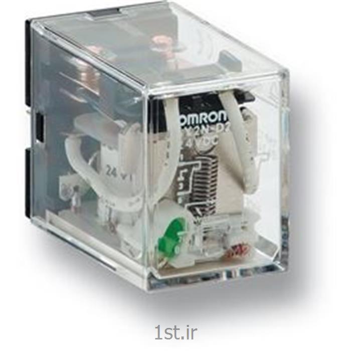 رله امرن (OMRON) دو کنتاکت با LED مدل LY2N DC24