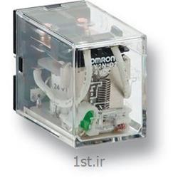 رله امرن (OMRON) دو کنتاکت با LED مدل LY2N AC24