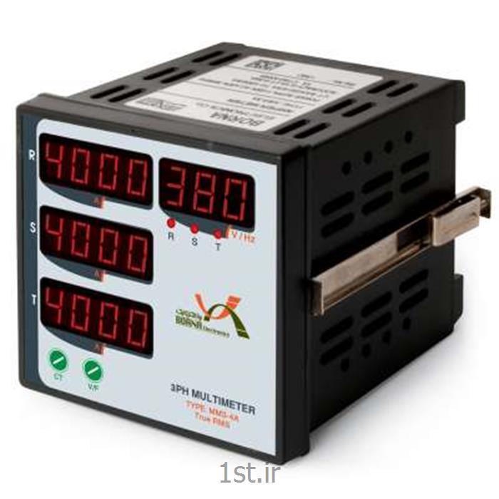 عکس سایر تجهیزات اندازه گیری و ابزار دقیقمولتیمتر سه فاز چهارنمایشگر برنا مدل MM3-4A