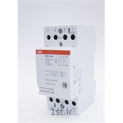عکس کنتاکتور برق ( کلید خودکار قطع و وصل )کنتاکتور بیصدا 24 آمپر 4 پل مدل ABB ESB24.40-24VDC