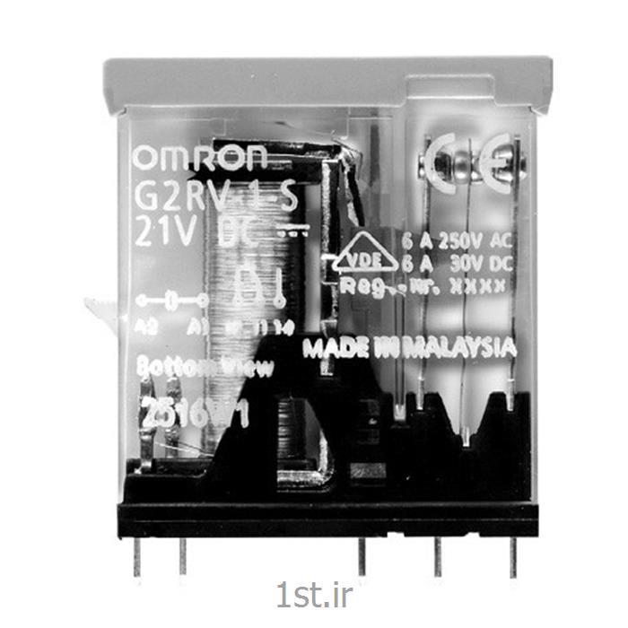 رله امرن (OMRON) یک کنتاکت با LED مدل G2RV-1-S DC21