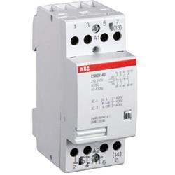 عکس کنتاکتور برق ( کلید خودکار قطع و وصل )کنتاکتور بیصدا 24 آمپر 4 پل مدل ABB ESB24-22-230VAC