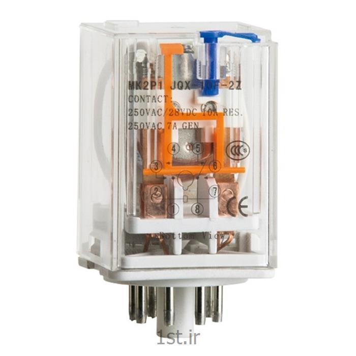 رله امرن (OMRON) دو کنتاکت  گرد 10 آمپر MK2PN-I DC12