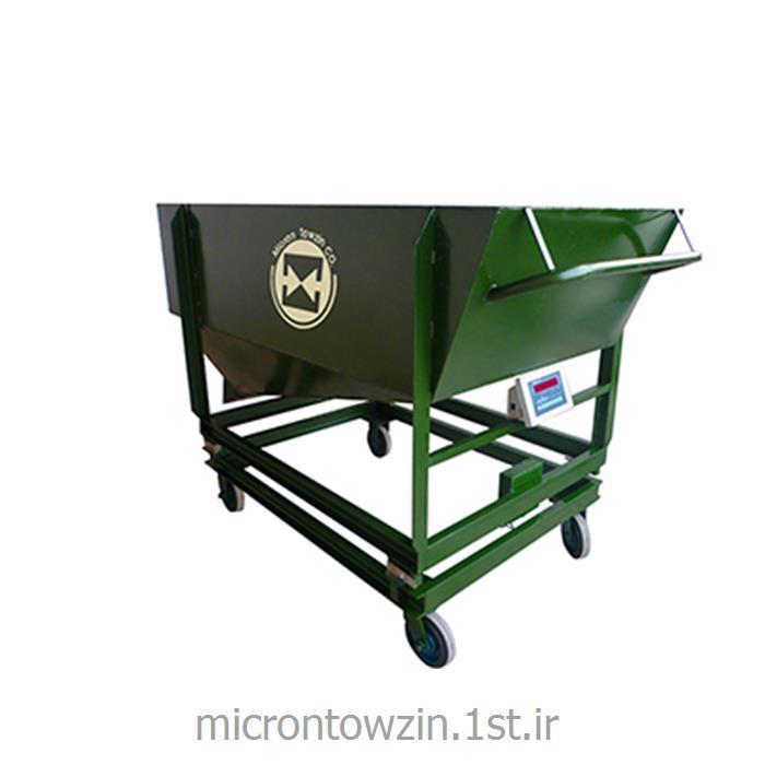 عکس ترازوی وزن کشیهاپر چرخ دار 1000 کیلو میکرون توزین microntowzin