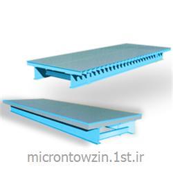 عکس ترازوی وزن کشیباسکول فلز بتن روی سطح میکرون توزین microntowzin