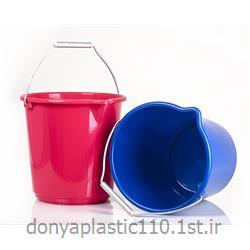 عکس سطل زباله (سطل آشغال)سطل مدرج پلاستیکی  با دسته آلومینیوم