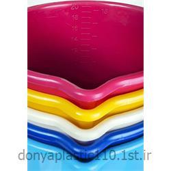 سطل مدرج پلاستیکی  با دسته آلومینیوم