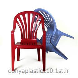 صندلی دسته دار پشت بلند پلاستیکی