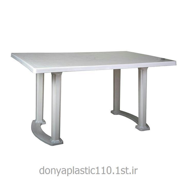 میز مربع مستطیل 90*140 پایه بغل با کفی پلاستیکی