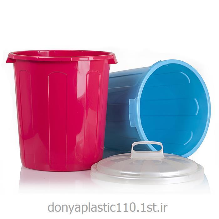 سطل قفلی پلاستیکی متوسط