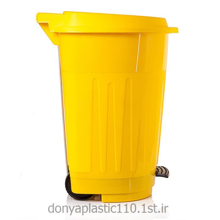 سطل چرخ دار پدال دار پلاستیکی 120 لیتری