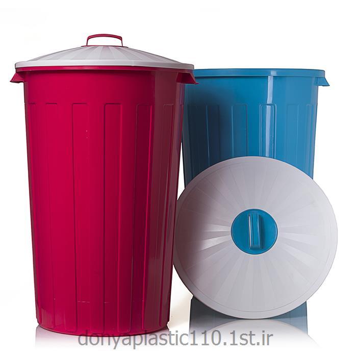 سطل شهروند با درب معمولی پلاستیکی 80 لیتری