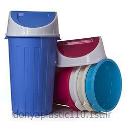 سطل شهروند با درب بادبزنی  پلاستیکی 80 لیتری