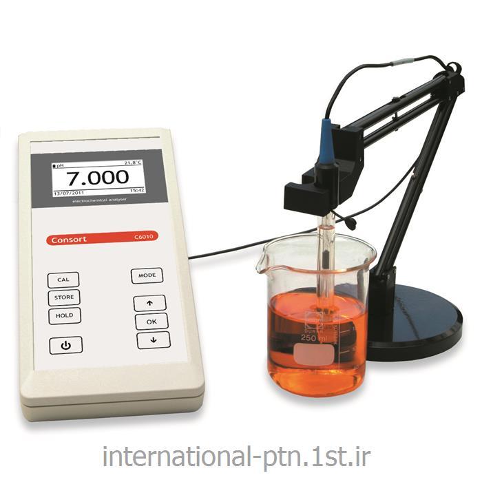 پی اچ متر pHپرتابل کمپانی Consort بلژیک