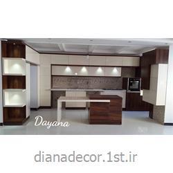 عکس کابینت آشپزخانهکابینت مدرن های گلاس  قهوه ای ترکیه مدل یلدیز کد beyaz101