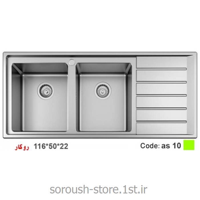 عکس سینک آشپزخانهسینک استیل ارس کد 10