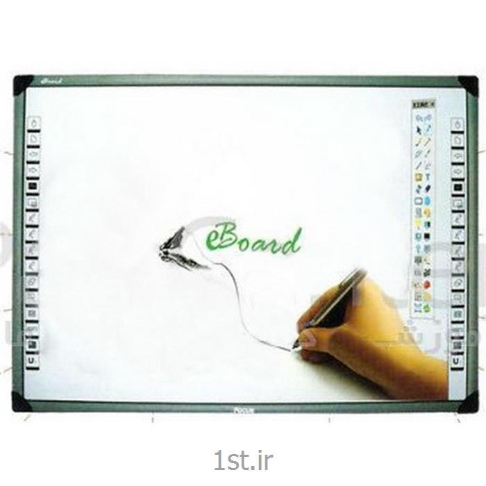 عکس تخته وایت بردوایت برد هوشمند ای برد با ابعاد 84 اینچی (EBoard White Board TT84)