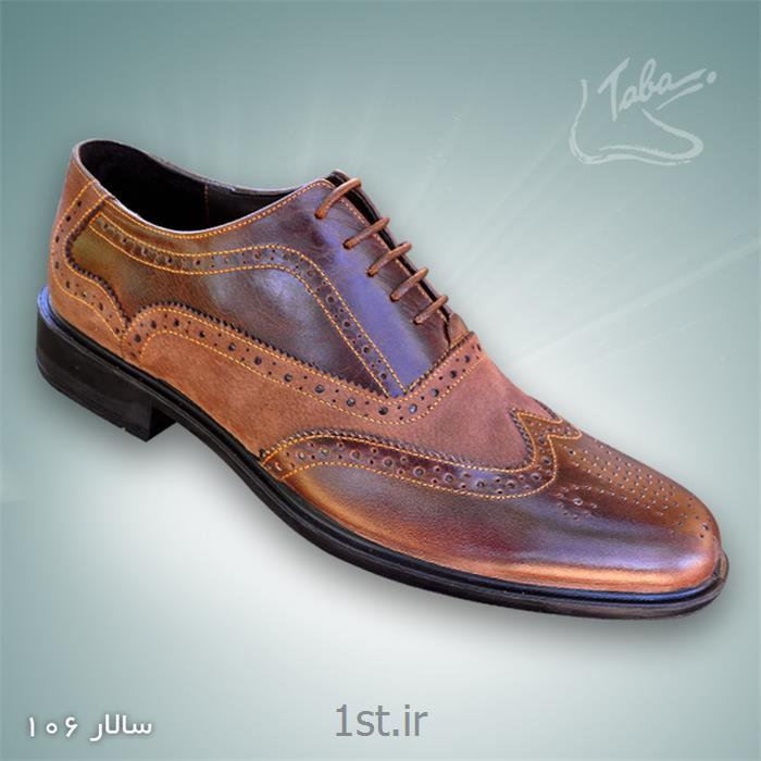 کفش تمام چرم سالار  کد 106