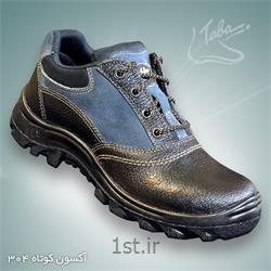 عکس کفش ایمنیکفش ایمنی آکسون ساق کوتاه کد 304