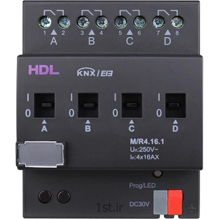 عکس تجهیزات ساختمانی هوشمند (خانه هوشمند)رله هوشمند 4 کانال 16 آمپر KNX اچ دی ال (HDL)