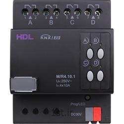 عکس تجهیزات ساختمانی هوشمند (خانه هوشمند)رله هوشمند 4 کانال 10 آمپر KNX اچ دی ال (HDL)