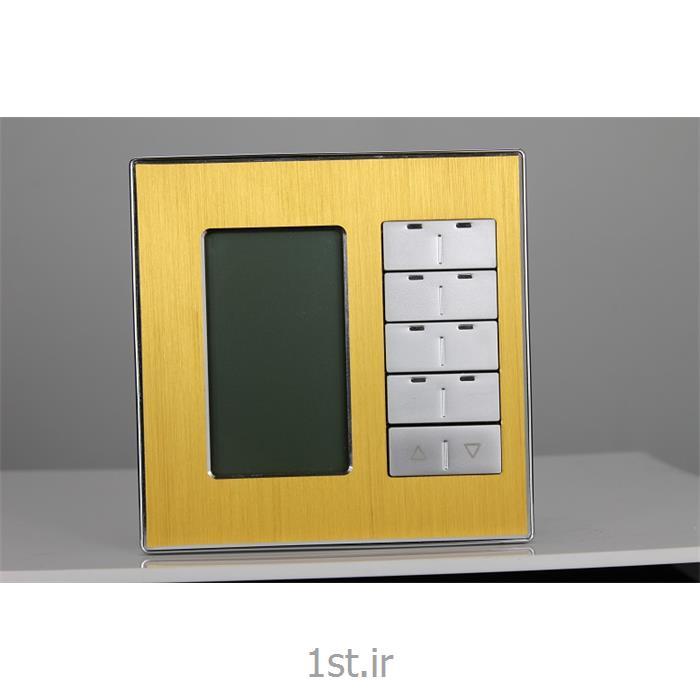 عکس تجهیزات ساختمانی هوشمند (خانه هوشمند)کلید LCD دار چند کاربره DLP-MPL8 اچ دی ال (HDL)