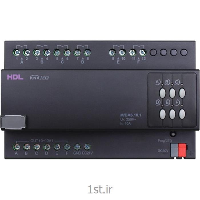 عکس تجهیزات ساختمانی هوشمند (خانه هوشمند)دیمر هوشمند بالاست 6 کانال 10 آمپر KNX اچ دی ال (HDL)