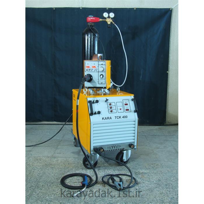 عکس دستگاه جوش میگ (دستگاه جوش MIG)دستگاه جوش CO2 هواخنک با ظرفیت 400 آمپر کارا به روش MIG/MAG مدل KARA TCK 400