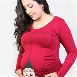 عکس لباس حاملگیبلوز بارداری طرحدار فانتزی مدل زیپی
