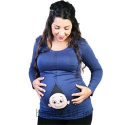 بلوز بارداری طرحدار فانتزی مدل زیپی