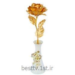 شاخه گل رز طلا