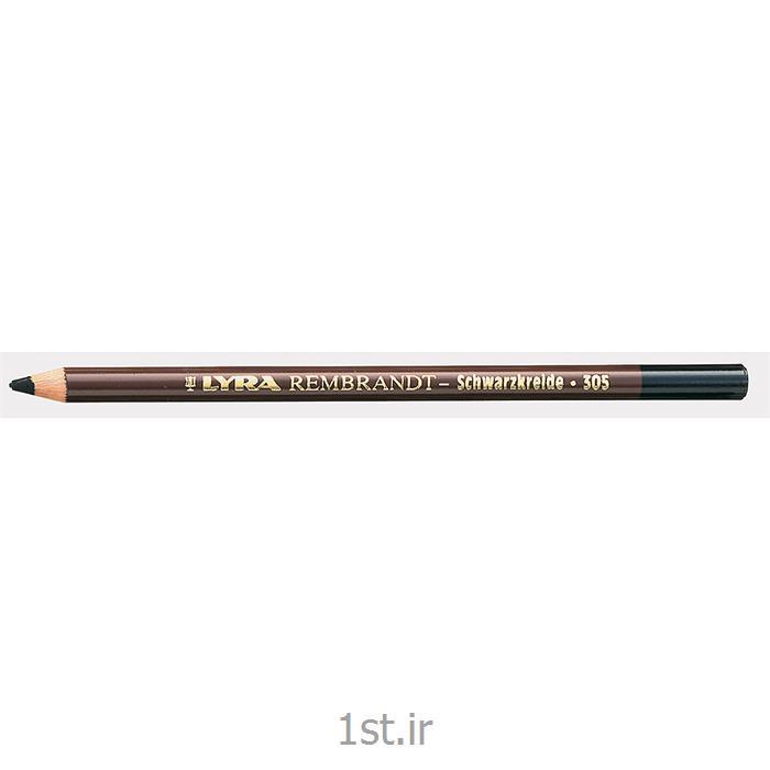 مداد مشکی با مغز پاستل گچی لیرا (بدون روغن)