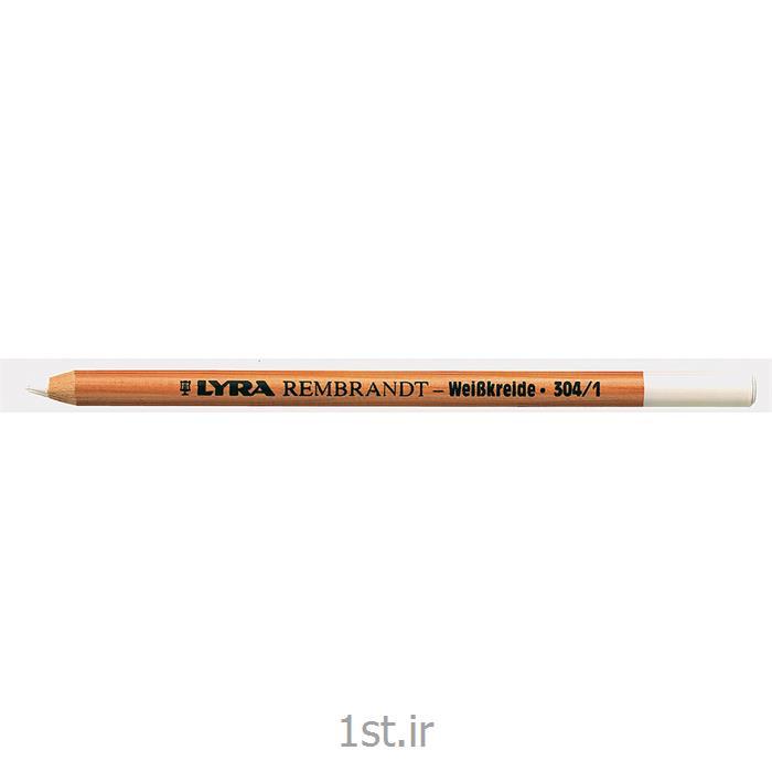 مداد سفید گچی بدون روغن لیرا