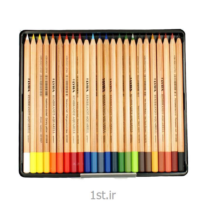 عکس مداد رنگیمداد رنگی آکوارل لیرا (جعبه فلزی حرفه ای) Lyra Rembrandt-Aquarell colour Pencils