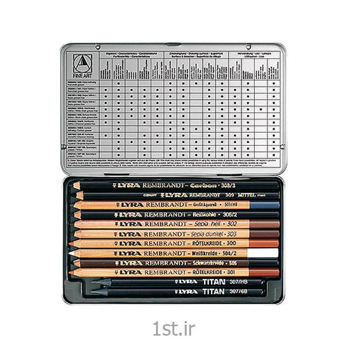 عکس مجموعه ( ست ) لوازم هنریست مداد مخصوص طراحی هنری لیرا Lyra Art Specials Drawing Pencils