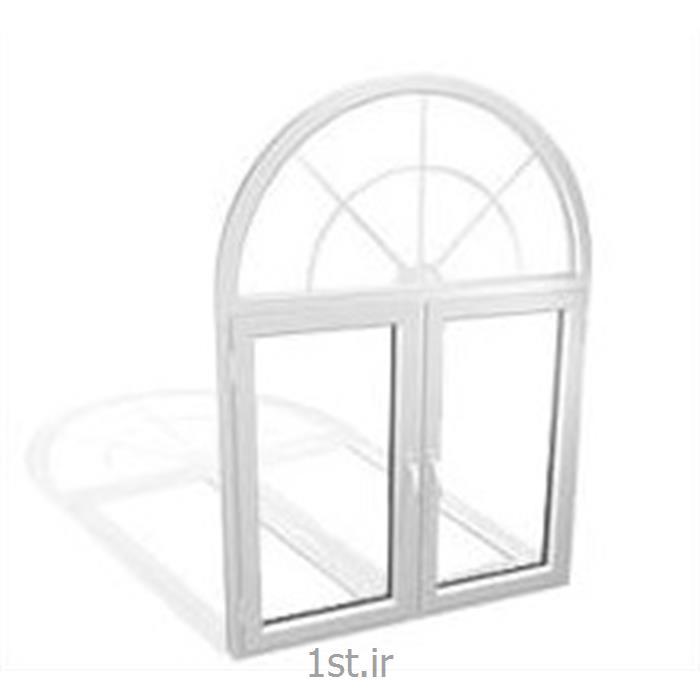 عکس پنجرهپنجره یو پی وی سی (upvc) دو جداره ثابت قوس دار یا آرکی