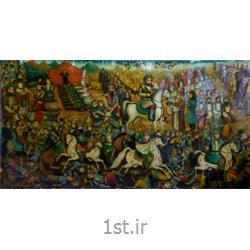 پرده نقاشی قهوه خانه ای مذهبی