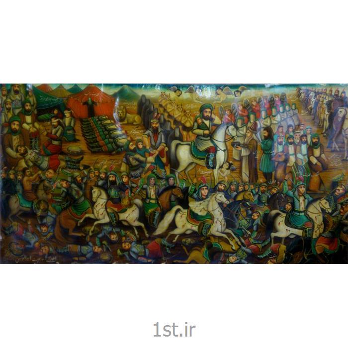 عکس نقاشی و خوشنویسیپرده نقاشی قهوه خانه ای مذهبی